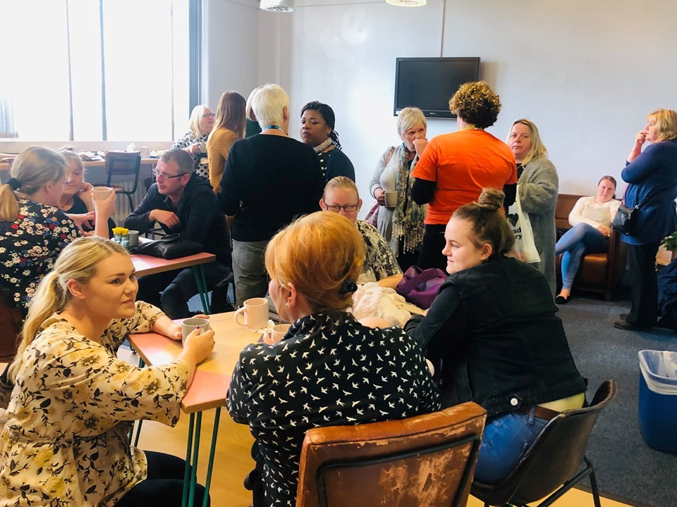 Kinship carers at a support group